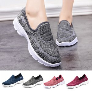 Women Running Shoes Mesh Breathable Shoes Casual Slip On Comfortable Soles Outdoor Sports Shoes zapatos deportivos de mujer#g4