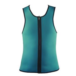 Заводская цена Мужская неопрена Пот Корсет для похудения Vest Body Shaper Zipper Сауна Tank Tops тренировки рубашку тренажерный зал одежды