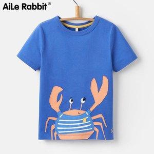 Aile Rabbit Marchio di stile europeo ed americano Bambini S Wear Bottoming Bottoming Shirt maniche corte girocollo Stretch Boy Y190516