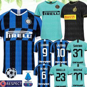 Alexis 2019 2020 Milan Futbol Forması 9 Lukaku 10 Lautaro 8 Vecino 6 de Vrij 2 Godin Brozovic Skriniar Barella Politano