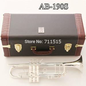 Plata de la nueva llegada del envío Bach AB-190 Brass Trompeta alta calidad plateó musicales profesionales Instrumentos Con Accesorios Caso