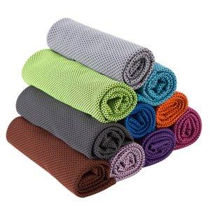 Двойной слой Ice Cold Sport Towel Охлаждение Лето Анти Sunstroke Спорт Упражнение Прохладный Quick Dry мягкой дышащей охлаждения Полотенце 10 цветов R3179