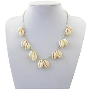 Shell Necklace Women Jewelry Beach Jewelry Boho Collar Sea Shell Pendant Simple Choker Necklace Behemian Tassel Chain beautiful Necklace