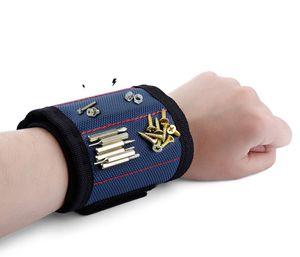 Strong Magnetic Magnet Wristband Pocket Wrist Support Tool Bag Hand Bracelet Pouch Bag Screws Drill Holder Holding