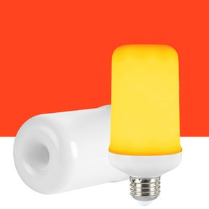 LED 화염 효과 화재 전구 - 거꾸로 효과와 업그레이드 된 3 모드 점멸 화재 크리스마스 장식 조명 화염 전구