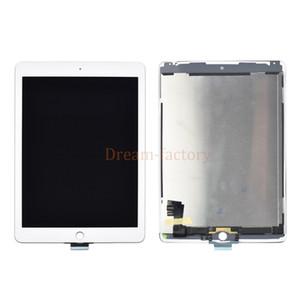5pcs DHL pour iPad 2 Air 2ème génération A1567 A1566 LCD écran tactile Digitizer lentille en verre Panneau tablette + adhésif blanc noir