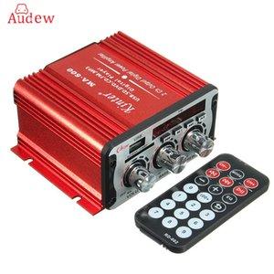 Envío gratuito de 2 canales Hi-Fi 12 V Mini Auto Amplificador de potencia de coche Amplificador de audio estéreo Soporte DVD MP3 SD AUX para el coche de la motocicleta Barco casa