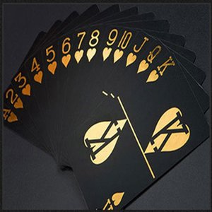 Professional Customization Black Gilt Personalized Waterproof Magic Plastic Running Wear Athletic & Outdoor Apparel Playing Cards Creative G