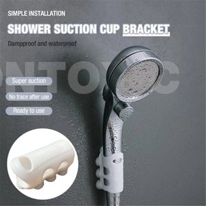2pcs Bathroom Nozzle Seamless Silicone Shower Sucker Removable Accessories Shower Head Handset Stand Bracket Holder