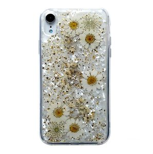 Hyun flower for iPhonex max Epoxy phone shell dried flowers real flower Epoxy mobile phone protective shell airpod
