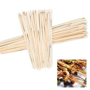 Hoomall 90pcs Barbecue Grill Tapis Bambou Brochettes Grill Shish Baguettes en bois Barbecue Outils pour barbecue Churrasco à usage unique Fournitures pour barbecue