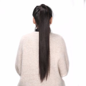 BHF 100% Human Hair Ponytail Brazilian Remy Ponytail Wrap Around Horsetail 60g 100g 120g Hairpieces Natural Straight Tails