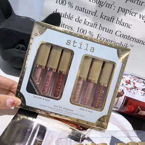 6 Farben Stila Auge für Eleganz Make-up Limited Edition Flüssiges Lidschatten Set Kosmetik Erde Farbe Lidschatten Make-up Set
