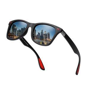 BRAND DESIGN Polarized Sunglasses Men Women Fashion Rivet Driving Shades Square Frame Sun Glasses Mirror UV400 Oculos P21 gunes gozlugu
