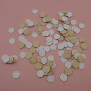 500 PCS 1.0 cm, 1.5 cm, 2.0 cm Adesivo branco redondo feltro almofadas para flor broches'back, espaçadores de feltro não-tecidos círculos patches applique
