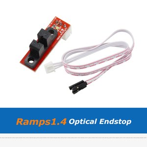 10 unids / lote Impresora 3D Parte Rampas1.4 Interruptor de control óptico de límite de límite final con cable para CNC RepRap Makerbot RAMPS1.4
