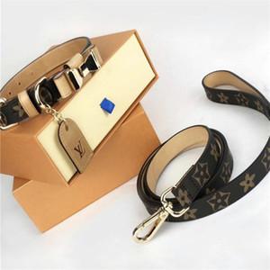 Animaux en cuir véritable Colliers Ensembles Motif Mode Imprimé Pet Laisses INS Fashion Bow Noeud Bulldog Colliers