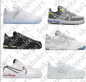2020 AF 1 React QS Ice White Light Bone D MS X Men Women New