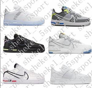2020 AF 1 React QS Ice White Light Bone D MS X Men Women NewAirForce 1 React 1s CQ8879-100 designer sneakers Casual Shoes