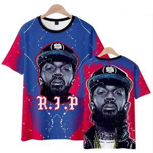Büyük Nipsey 3D Baskılı Erkekler T Gömlek 2019 Hip Hop Komik Tshirt Harajuku Streetwear Rapçi Lil Peep Nipsey Hussle Erkekler Giysileri