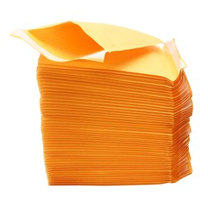 50Pcs Top Quality Yellow Kraft Bubble Mailers Padded Envelopes Shipping Bag Self Seal Business School Office Supplies