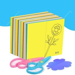 60pcs / set Kinder Cartoon Farbe Papier falten und Schneiden Spielzeug Kinder Kingergarden Kunsthandwerk DIY Bildungs-Spielzeug