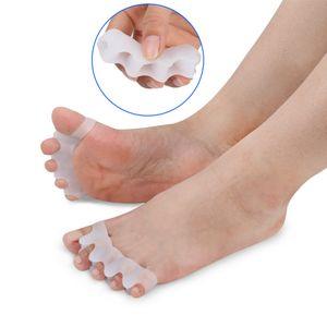 Silicone Joanete Corrector Toe Separadores Alisador de Silicone Cuidados Com Os Pés Protetor Joanete Cuidados Com Os Pés Ferramenta Pro Massageador RRA604