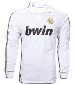 2011 2012 Ретро Реал Длинные рукава Джерси футбол 11 12 RAMOS KAKA RONALDO Бензема ALONSO классический футбол рубашка