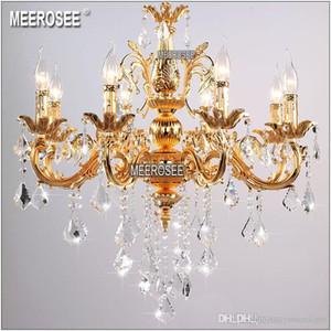 Классическая хрустальная люстра свеча светильник золотой или серебряный блеск Кристалл подвесной светильник MD8861