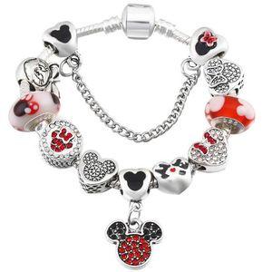 Fashion Charm Bracelet Women Exquisite Enamel Colorful Beads Beaded Bangle for Pandora Jewelry Girls Children Gift