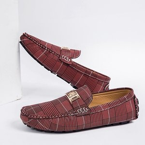 Fashion Size 38-48 Shoes Men Cow Leather Casual Shoes Slip on Loafers Man Handsome Outdoor Leather Flats Moccasins