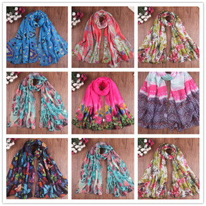 2018 New Spring Summer Scarf Fashion Women Sunscreen Print Scarf Elegant Scarves Lady'S Beach Cove Up Winter Scarf