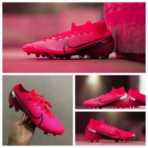 2020 en kaliteli futbol ayakkabıları Mercurial Superfly 7 Elite FG CR7 futbol krampon Neymar krampon buharlar 13 scarpe da calcio mens