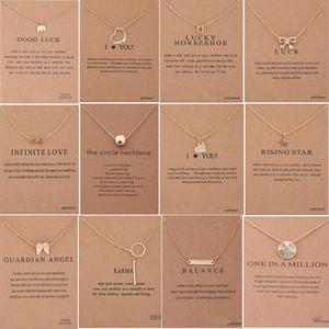 발렌타인 데이 기프트 카드 골든 실버 색상 행운 코끼리 펜던트 노블 초커 발렌타인 데이 크리스마스 선물 XD22949 60 개 스타일 목걸이