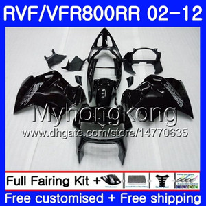Body Gloss black For HONDA Interceptor VFR800RR 02 03 04 05 06 07 258HM.10 VFR 800R 800RR VFR800 RR 2002 2003 2004 2005 2006 2007 Fairing
