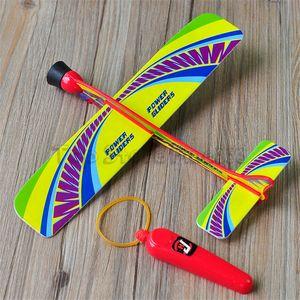 Летающие самолеты игрушки стрелять самолет игрушки дети aunch модель самолета игрушки подарок открытый ручной бросок пены планер самолет инерционная игрушка