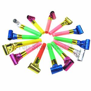 Brinquedos do partido Engraçado Colorido Assobios Crianças Festa de Aniversário Crianças Blowing Dragão Blowout Fontes Do Aniversário Do Bebê Brinquedos presentes
