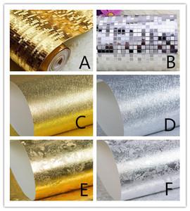 10mx 53 centímetros Glitter Efeito Espelho Mini mosaico faísca reflectivo papel de parede da folha de ouro Wallpaper folha de prata