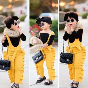 2020 Pducoco New Arrivels Toddler Kids Baby Girl Ruffles Clothes Bib Pants Overalls Sleeveless Jumpsuit1-5Years