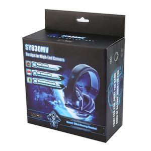 SY830MV Deep Bass Jogo Headphone Stereo Over-Ear Gaming Headset Headband fone de ouvido com MIC Luz para computador PC Gamer