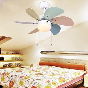 30 polegadas LED Modern Ventilador de teto da sala dos miúdos ventiladores de teto com luzes Mini Fan Lâmpada Crianças Quarto Ventilador de teto Luz