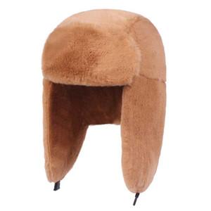 Bombardeiro de Fibonacci Mulheres Winter Hat Plush Faux Fur Hat prova de vento quente Orelha Protect Bomber Chapéus Ushanka Cap russo