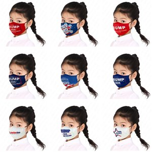 Erkekler Kızlar Yüz ABD Başkanı Tasarımcılar Mektuplar Baskılı Çocuk Çocuk Trump 2020 Bayrak Toz Sis PM2.5 Marka Yıkanabilir Maskeler D52810 Maskesi