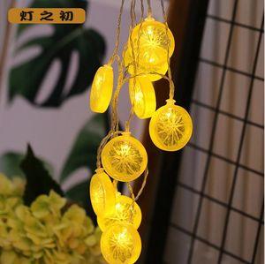 Sıcak satış 20LED limon dilim ışık dize Canlı arka plan duvar net kırmızı ışık Tricolor meyve dekoratif dize ışık