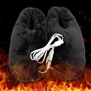 Zapatos alivio de regalo fría pies calentador práctico USB portátil fiable cojín suave Inicio eléctrica de invierno climatizada Zapatilla calefacción