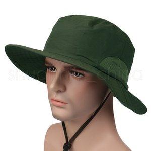 Открытый солнцезащитный козырек Cap мода широкими полями летние унисекс шляпы скорость сухой УФ солнцезащитный крем шляпа причинно-следственные путешествия кемпинг Sun Hat TTA846