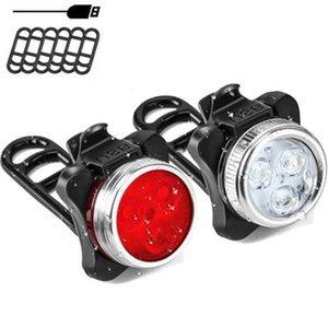 Taşınabilir Hafif IPX4 Su geçirmez Bisiklet Lights Cycling Bisiklet Işık LED arka lambası USB Şarj edilebilir Arka Kuyruk Güvenlik Uyarı