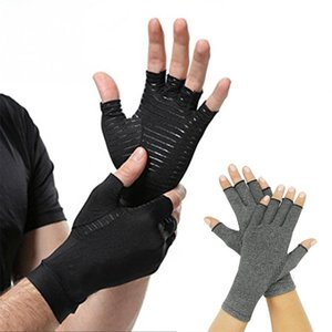 Ayuda de muñeca de la mano artritis de la articulación alivio del dolor de la muñeca Brace peso del ejercicio de los guantes de levantamiento de Formación Skid Guantes Sport Fitness