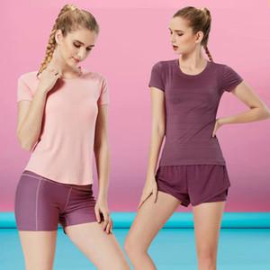 2020 Gym Leggings femmes yoga Pantalons T-shirt élastique Fitness Collants entraînement peau nue Affinity Sentiment couleurs solides