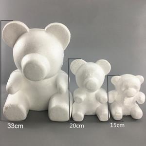 15cm و/ 20CM / 35CM رغوة روز الدب روز قالب DIY الاصطناعي زهرة الدب البلاستيك الدب الورود الحظ الكلب قالب نموذج